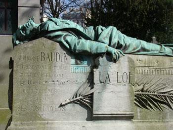 Cénotaphe d'Alphonse Baudin au cimetière du père Lachaise